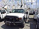 Altec TA37-MH, Articulating & Telescopic Material Handling Bucket Truck, mounted behind cab on, 2008 Ford F550 4x4 Service Truck