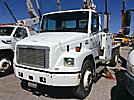 Altec TA37-MH, Articulating & Telescopic Material Handling Bucket Truck mounted behind cab on 1999 Freightliner FL70 Utility Truck