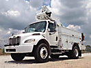 Altec TA37M, Articulating & Telescopic Material Handling Bucket Truck, mounted behind cab on, 2007 Freightliner M2 Utility Truck