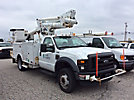 Altec TA37M, Articulating & Telescopic Material Handling Bucket Truck, mounted behind cab on, 2008 Ford F550 Service Truck