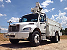 Altec TA37M, Articulating & Telescopic Material Handling Bucket Truck mounted behind cab on 2008 Freightliner M2 Utility Truck