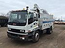 Altec TA40, Articulating & Telescopic Bucket Truck, center mounted on, 2009 GMC T7500 Utility Truck