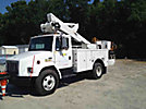 Altec TA40, Articulating & Telescopic Bucket Truck, mounted behind cab on, 1999 Freightliner FL60 Utility Truck