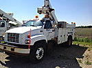 Altec TA40, Articulating & Telescopic Bucket Truck, mounted behind cab on, 1999 GMC C6500 Utility Truck