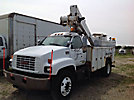Altec TA40, Articulating & Telescopic Bucket Truck, mounted behind cab on, 2000 GMC C6500 Utility Truck