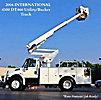 Altec TA40, Articulating & Telescopic Bucket Truck, mounted behind cab on, 2004 International 4300 Utility Truck