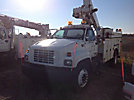 Altec TA40, Articulating & Telescopic Bucket Truck mounted behind cab on 2000 GMC C7500 Utility Truck