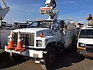 Altec TA40, Articulating & Telescopic Bucket Truck mounted behind cab on 2001 Chevrolet C7500 Utility Truck