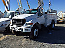 Altec TA40, Articulating & Telescopic Bucket Truck mounted behind cab on 2002 Ford F750 Utility Truck