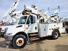 Altec TA40, Articulating & Telescopic Bucket Truck mounted behind cab on 2004 International 4300 Utility Truck