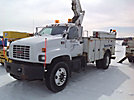 Altec TA40, Articulating & Telescopic Material Handling Bucket Truck, center mounted on, 2000 GMC C7500 Utility Truck