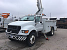 Altec TA40, Articulating & Telescopic Material Handling Bucket Truck, mounted on, 2001 Ford F650 Utility Truck