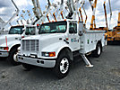 Altec TA41-MH, Articulating & Telescopic Material Handling Bucket Truck mounted behind cab on 2000 International 4700 Utility Truck