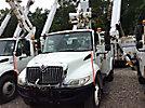 Altec TA41-MH, Articulating & Telescopic Material Handling Bucket Truck mounted behind cab on 2008 International 4300 DuraStar Utility Truck