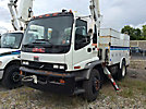Altec TA41M, Articulating & Telescopic Material Handling Bucket Truck, mounted behind cab on, 2004 GMC T7500 Utility Truck