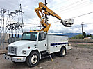 Altec TA41M, Articulating & Telescopic Material Handling Bucket Truck mounted behind cab on 2001 Freightliner FL70 Utility Truck