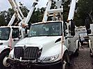 Altec TA41M, Articulating & Telescopic Material Handling Bucket Truck mounted behind cab on 2008 International 4300 DuraStar Utility Truck