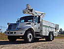 Altec TA45, Articulating & Telescopic Bucket Truck, center mounted on, 2006 International 4300 Hybrid Utility Truck