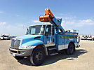 Altec TA45, Articulating & Telescopic Bucket Truck, center mounted on, 2006 International 4300 Utility Truck