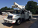 Altec TA45-MH, Articulating & Telescopic Material Handling Bucket Truck, mounted behind cab on, 2006 International 4300 Utility Truck