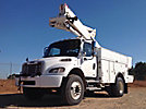 Altec TA45-MH, Articulating & Telescopic Material Handling Bucket Truck mounted behind cab on 2005 Freightliner M2 Utility Truck