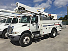Altec TA45-MH, Articulating & Telescopic Material Handling Bucket Truck mounted behind cab on 2011 International 4400 Utility Truck