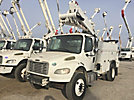 Altec TA45-MH, Articulating & Telescopic Material Handling Bucket Truck mounted behind cab on 2014 Freightliner M2 Utility Truck