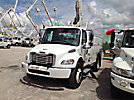 Altec TA45M, Articulating & Telescopic Material Handling Bucket Truck, mounted behind cab on, 2004 Freightliner M2 Utility Truck