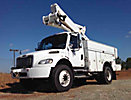 Altec TA45M, Articulating & Telescopic Material Handling Bucket Truck, mounted behind cab on, 2007 Freightliner M2 Utility Truck