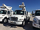 Altec TA45M, Articulating & Telescopic Material Handling Bucket Truck, mounted behind cab on, 2008 Freightliner M2 Utility Truck