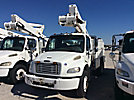 Altec TA45M, Articulating & Telescopic Material Handling Bucket Truck, mounted behind cab on, 2009 Freightliner M2 Utility Truck
