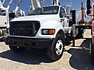 Autocrane A50A, Knuckleboom Crane mounted behind cab on 2002 Ford F750 Flatbed Truck