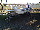 Carolina Skiff 16' Fiberglass Boat, s/n EKH16630E999, with Evinrude 25-hsp engine & trailer