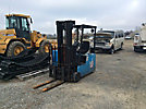 Crown 35SCTT, 3,200# Solid Tired Forklift, s/n W95581, electric, shuttle, with 154 mast height, hyd side shift & 42 forks (Reads 7470 Hours)