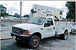 Duralift DFSL-36, Bucket Truck center mounted on 1999 Ford F450 4x4 Service Truck