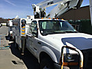 Duralift DFSL-36, Telescopic Non-Insulated Bucket Truck mounted behind cab on 2000 Ford F550 Service Truck