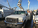 Duralift DTS-29, Telescopic Non-Insulated Bucket Truck mounted behind cab on 2004 Ford F450 Service Truck