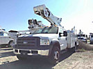 Duralift DTS-40, Telescopic Non-Insulated Bucket Truck, mounted behind cab on, 2006 Ford F550 Service Truck