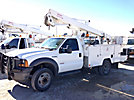 ETI ETC37-IH, Articulating & Telescopic Bucket Truck, mounted behind cab on, 2005 Ford F550 Service Truck