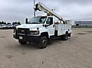ETI ETC37-IH, Articulating & Telescopic Bucket Truck, mounted behind cab on, 2006 Chevrolet C5500 4x4 Utility Truck