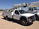 ETI ETC37-IH, Articulating & Telescopic Bucket Truck, mounted behind cab on, 2006 Ford F550 4x4 Service Truck