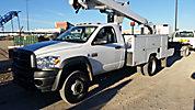 ETI ETC37-IH, Articulating & Telescopic Bucket Truck, mounted behind cab on, 2008 Dodge D5500 Service Truck