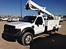 ETI ETC37-IH, Articulating & Telescopic Bucket Truck, mounted behind cab on, 2009 Ford F550 4x4 Service Truck