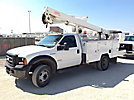 ETI ETC37-IH, Articulating & Telescopic Bucket Truck mounted behind cab on 2006 Ford F550 Service Truck