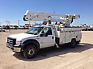 ETI ETOMH40-IH, Material Handling Bucket Truck, rear mounted on, 2006 Ford F550 4x4 Service Truck
