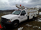 ETI ETT29-SNT, Telescopic Non-Insulated Bucket Truck, mounted behind cab on, 2003 Ford F350 Service Truck