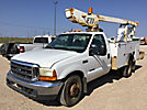 ETI ETT29-SNT, Telescopic Non-Insulated Bucket Truck mounted behind cab on 1999 Ford F350 Service Truck, bad starter, not running, condition unknown