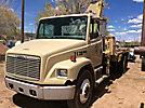 Effer 11500-2S, Knuckleboom Crane, mounted behind cab on, 1998 Freightliner FL80 Flatbed Truck