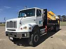 Effer 430 7/S, Hydraulic Knuckle Boom Crane rear mounted on 2004 Freightliner FL112 6x6 T/A Flatbed Truck