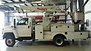 Elliott ECA-411-A, Articulating & Telescopic Bucket Truck mounted behind cab on 2006 GMC C5500 4x4 Utility Truck